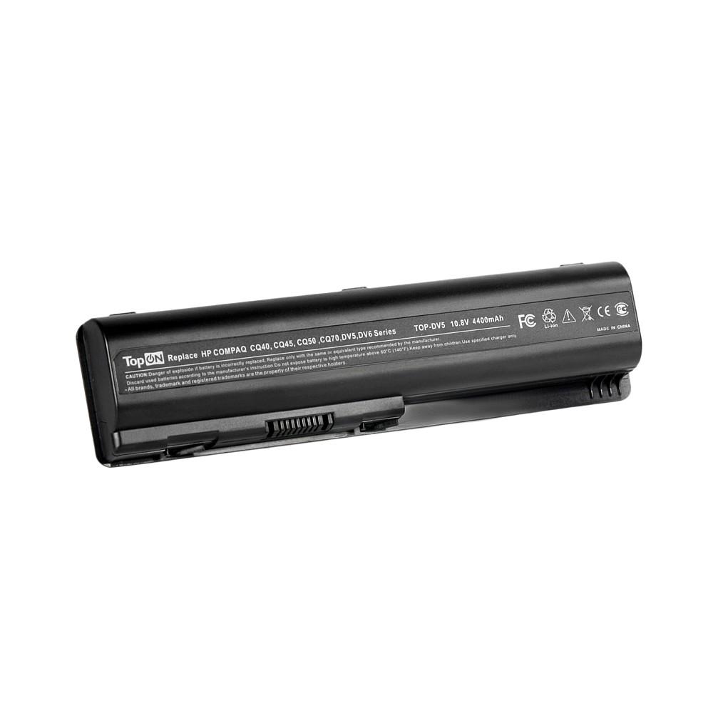 Аккумулятор для ноутбука TopON HP Pavilion dv4, dv5, dv6, G50, G71, HDX16, Compaq Presario CQ40, CQ71. 10.8V 4400mAh 48Wh. PN: KS524AA, HSTNN-LB72., TOP-DV5 недорго, оригинальная цена