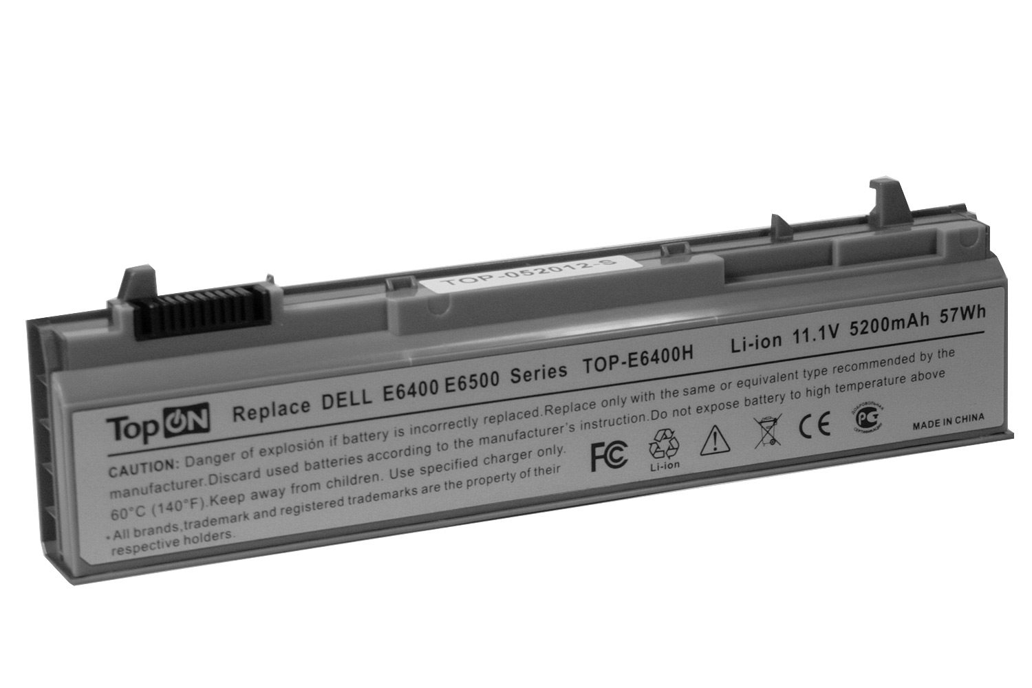 Аккумулятор для ноутбука TopON Dell Latitude E6400, E6410, E6500, E6510, Precision M2400, M4400, M4500, M6400, M6500. 11.1V 4400mAh PN: NM632, W1193, TOP-E6400