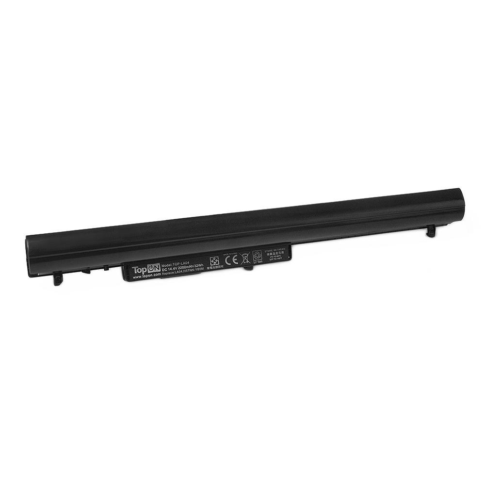 Аккумулятор для ноутбука TopON HP Pavilion SleekBook 14, 14t, 15, 15-b, 15z, Chromebook 14. 14.4V 2200mAh 32Wh. PN: 695192-001, HSTNN-YB4D., TOP-LA04 цена 2017