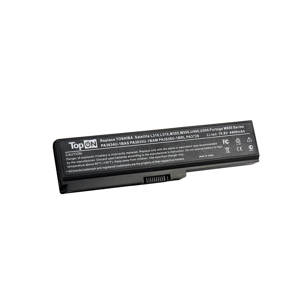 Аккумулятор для ноутбука TopON Toshiba Satellite Pro A660, C645, L310, M300, T110, Equium U400. 10.8V 4400mAh 49Wh. PN: PA3634U-1BAS, PA3635U-1BAM., TOP-PA3634 все цены