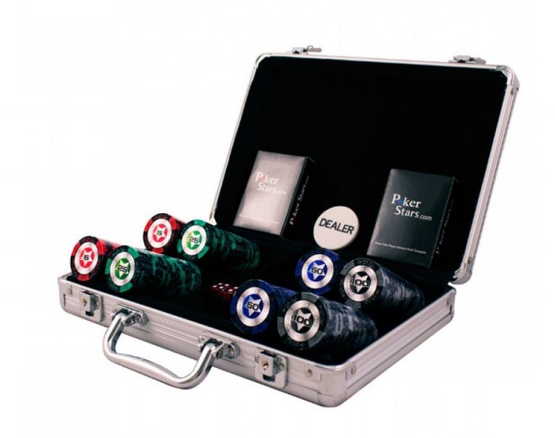 Набор для покера Partida Black Stars на 200 фишек цена