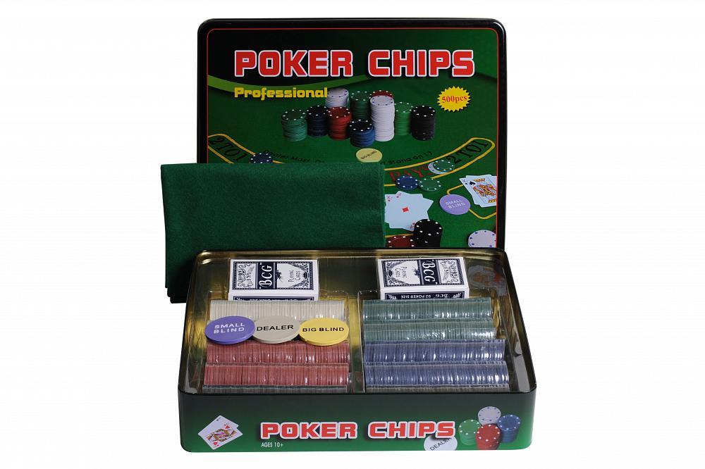 Набор для покера Partida Holdem Light на 500 фишек с номиналом фишки для покера с номиналом 11 5 г 25 штук