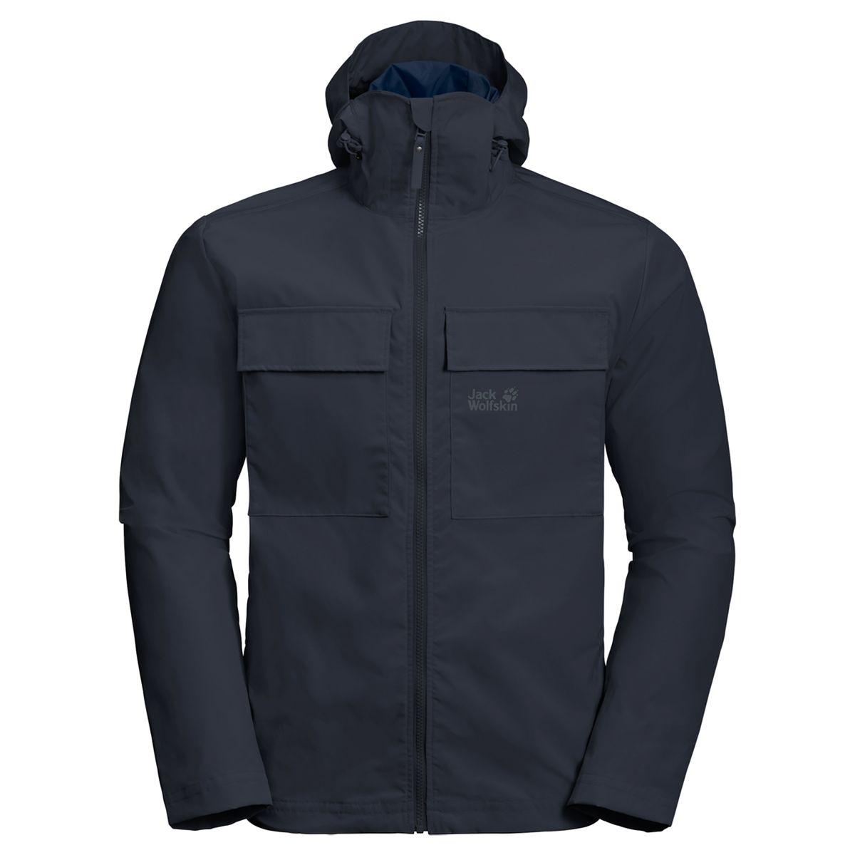 Куртка мужская Jack Wolfskin Summer Storm Jacket M, цвет: темно-синий. 1305951-1010. Размер S (42/44)1305951-1010SUMMER STORM JACKET (САММЕР СТОРМ ДЖЭКЕТ) — это куртка для ветреной погоды, уместная как на туристической тропе, так и в городе. Она выполнена в простом, минималистичном стиле и очень комфортна в ношении. Куртка сшита из STORMLOCK COTTON TOUCH (ШТОРМЛОК КОТТОН ТАЧ), ветронепроницаемой и дышащей смесовой ткани. Ее текстура, напоминающая хлопок, дарит коже непревзойденный комфорт. А еще куртка легко справится с небольшим дождем. Просто натяните капюшон и продолжайте путь!