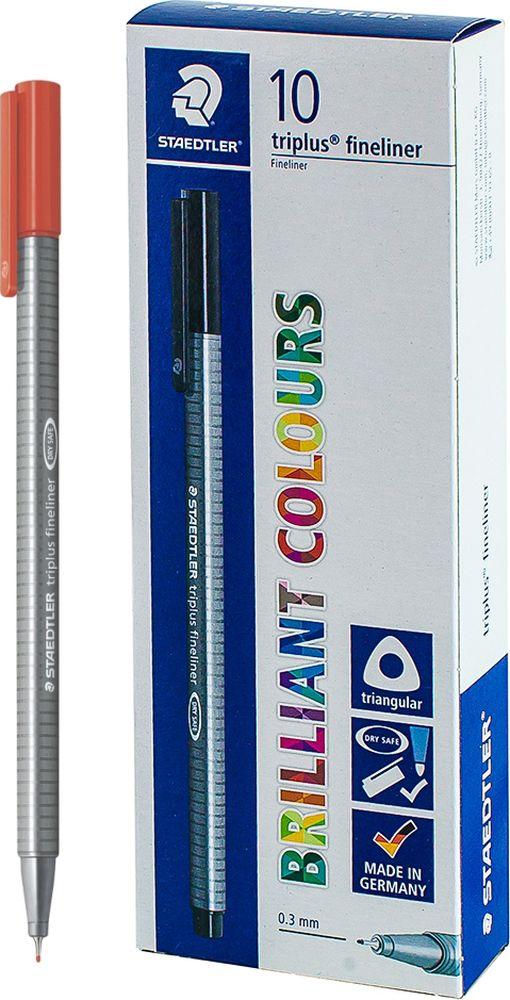 Ручка капиллярная Staedtler Triplus 334, BOX334-20, цвет чернил малиновый, 10 шт цена и фото