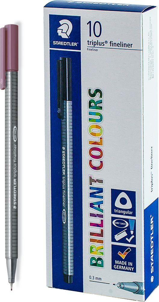 Ручка капиллярная Staedtler Triplus 334, BOX334-260, цвет чернил красный тосканский, 10 шт цена и фото