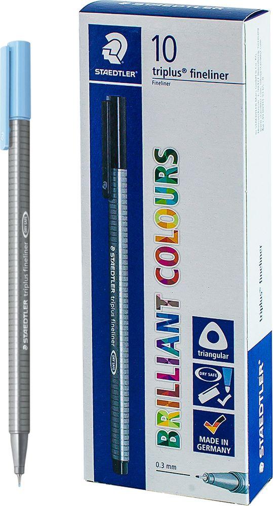 Ручка капиллярная Staedtler Triplus 334, BOX334-34, цвет чернил морская волна, 10 шт цена и фото