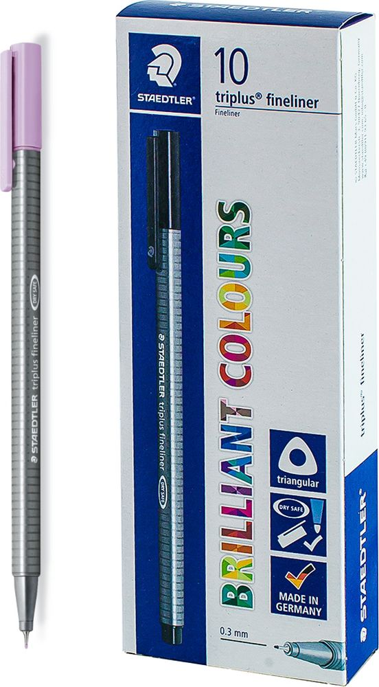 Ручка капиллярная Staedtler Triplus 334, BOX334-62, цвет чернил лавандовый, 10 шт цена и фото