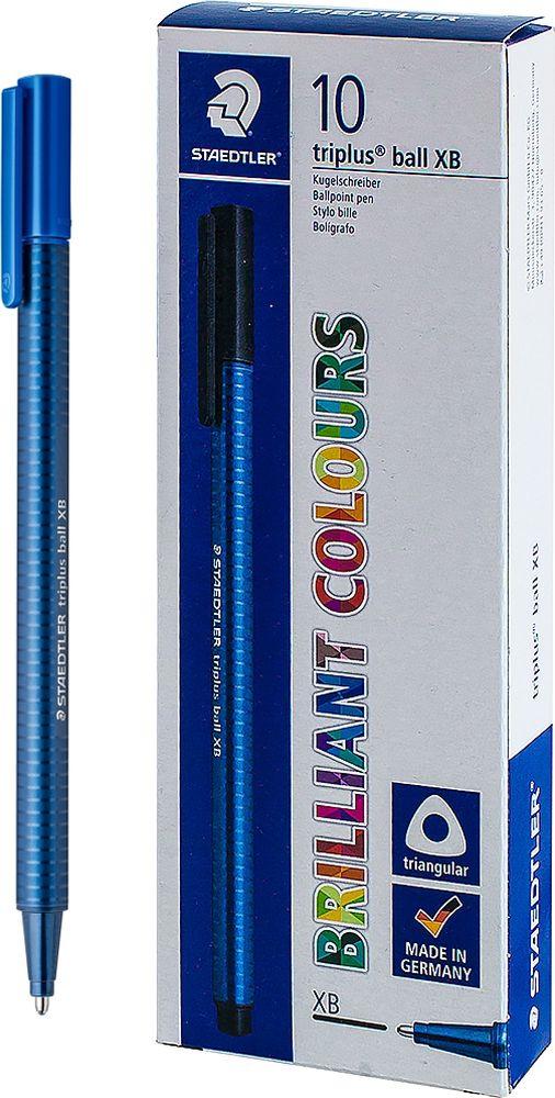 Ручка шариковая Staedtler Triplus Ball 437, BOX437XB-3, цвет чернил синий, 10 шт шариковая ручка triplus ball черная 0 3 f