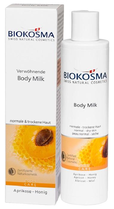 Молочко для тела Био абрикос - Био мёд Biokosma, 250 мл