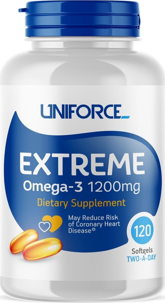 Omega 3 Uniforce Extreme Omega-3 1200 мг, 120 капсул