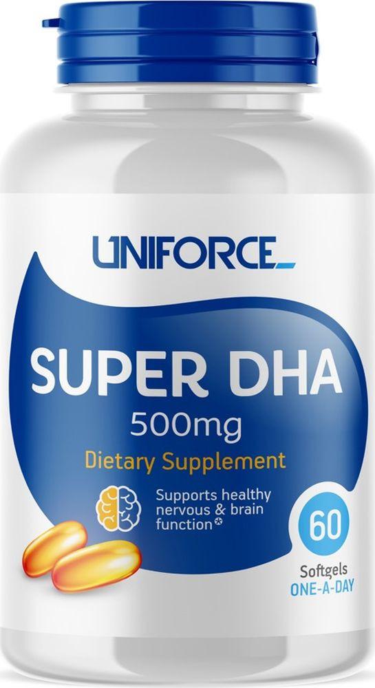 Omega 3 Uniforce Super DHA 500 мг, 60 капсул витамины для беременных с dha