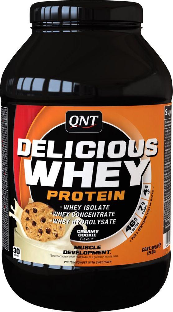 Протеин QNT Делишес Вей Протеин печенье и крем, 908 г все цены