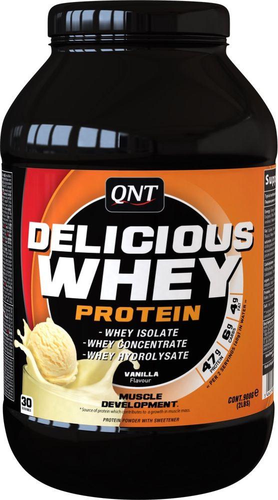 Протеин сывороточный QNT Delicious Whey Protein, йогурт, манго, 2,2 кг протеин olimp 100% whey protein complex шоколад 700г