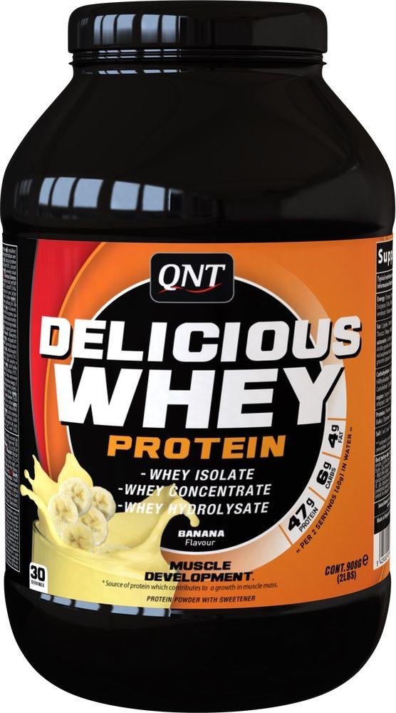 Протеин QNT Делишес Вей Протеин банан, 908 г все цены