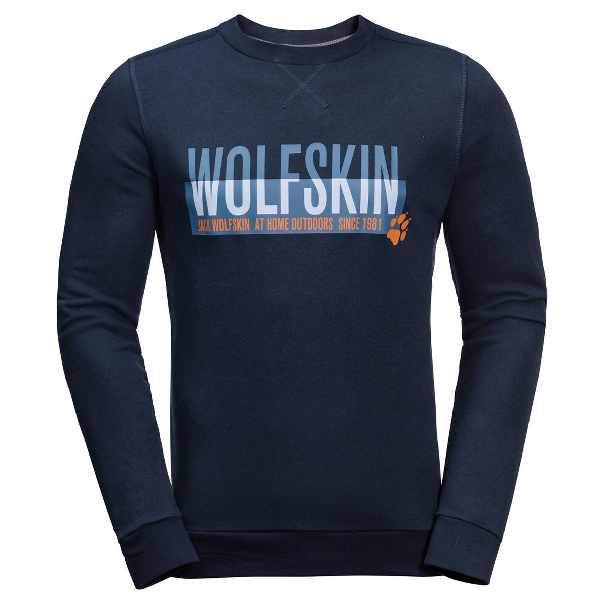 Свитшот Jack Wolfskin v neckline slogan print tshirt
