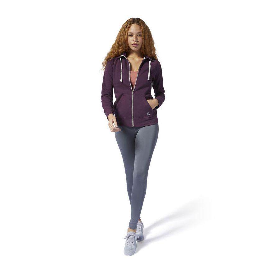 Худи женское Reebok Fl Full Zip, цвет: фиолетовый. DU4906. Размер S (44)DU4906