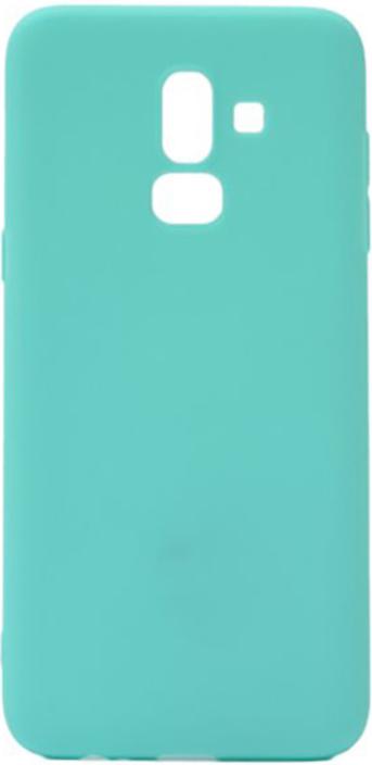 Чехол для сотового телефона GOSSO CASES для Samsung Galaxy J8 (2018) бирюзовый Soft Touch, 189921, бирюзовый