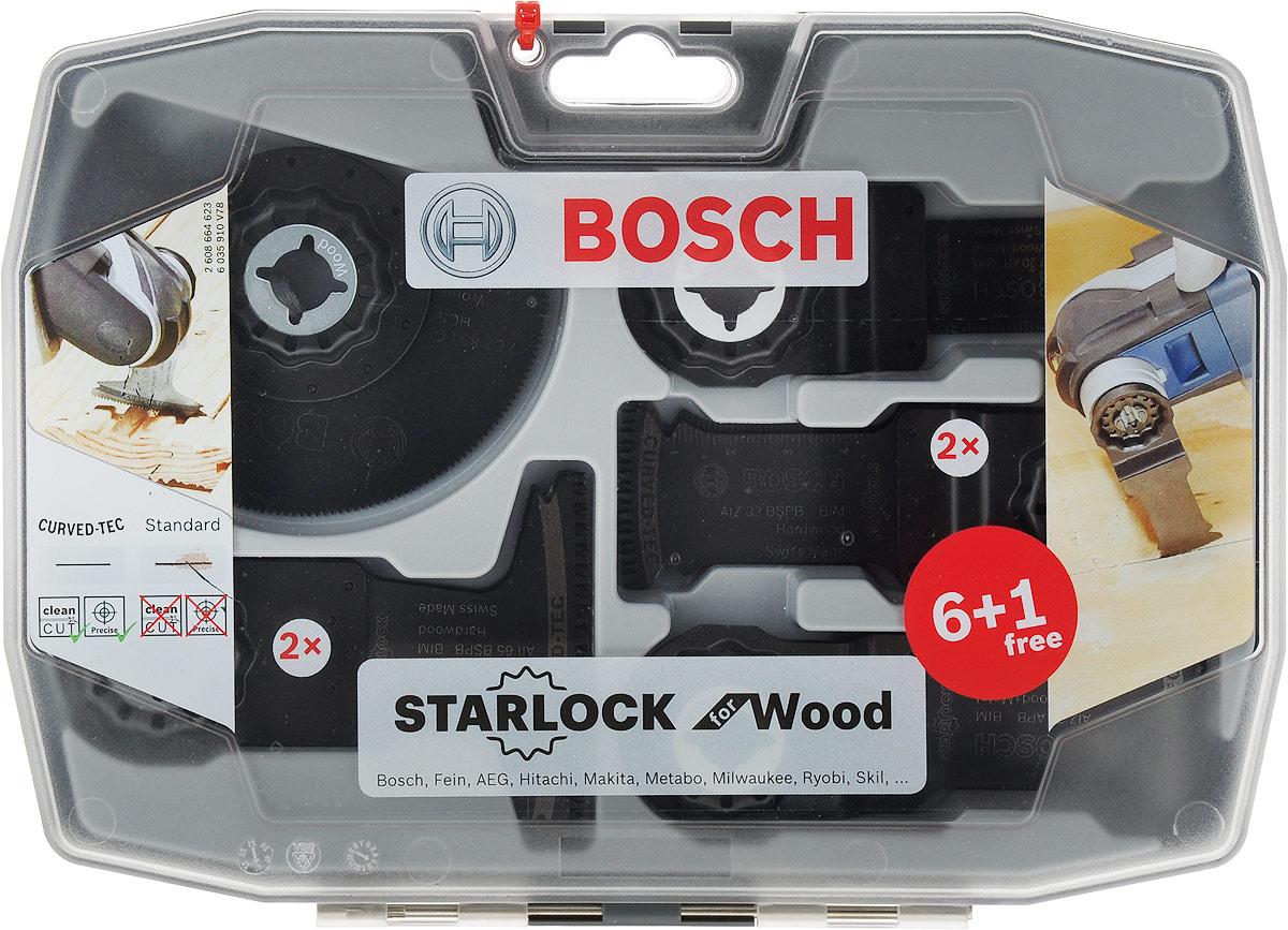Набор оснастки Bosch Starlock, по дереву с гвоздями, 7 предметов цены