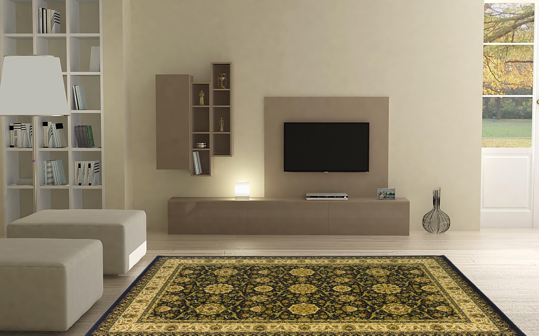 Ковер MADONNA 1,6x2,3 /прямоугольник/850611_2945 1/черный, черный