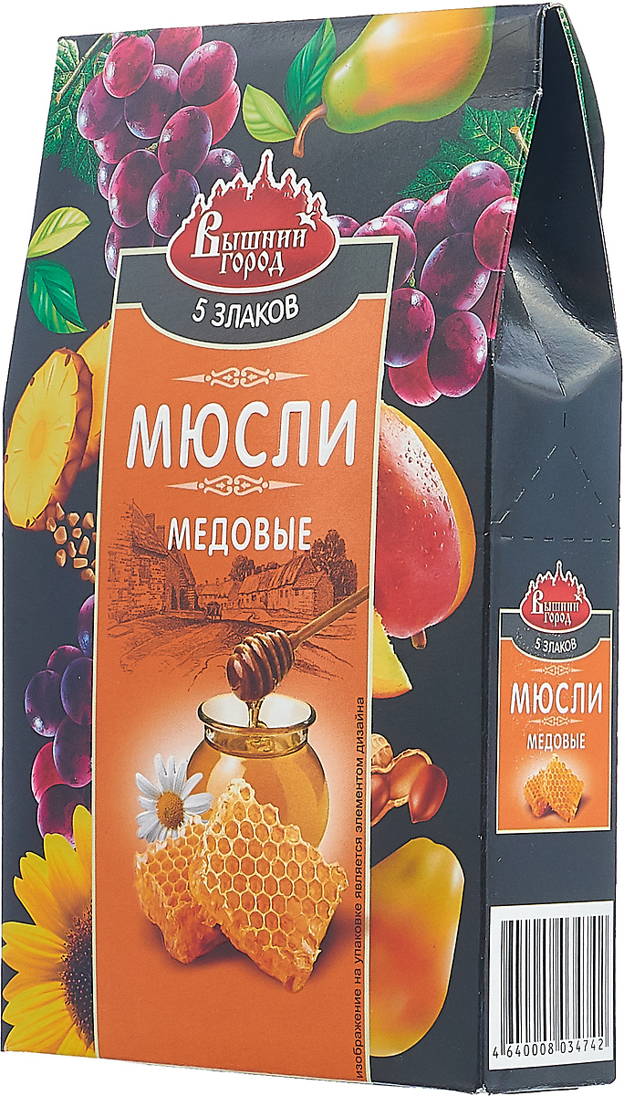 Мюсли Вышний город Медовые 5 злаков со льном, 300 г мюсли вышний город фруктовые 5 злаков со льном 350 г