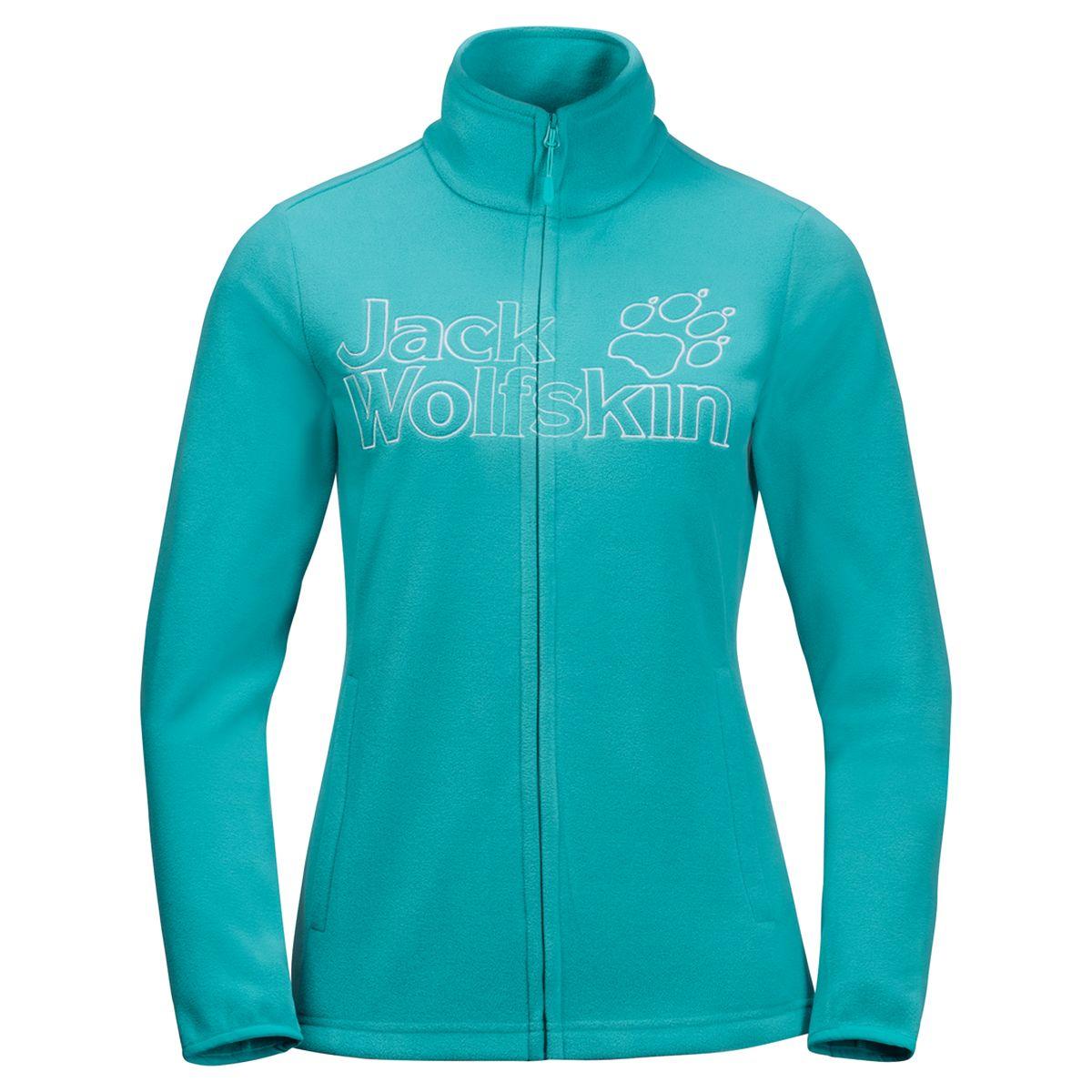 Толстовка женская Jack Wolfskin Zero Waste Jacket W, цвет: аквамариновый. 1707421-1105. Размер M (46/48)1707421-1105Вверх, к вершине горы, или вниз, в долину —;ZERO WASTE JACKET (ЗЕРО ВЕЙСТ ДЖЭКЕТ);одарит вас теплом и уютом, когда погода станет прохладной. Вы можете носить эту куртку в качестве верхнего или дополнительного среднего слоя в вашем комплекте одежды для низких температур. В основе ткани TECNOPILE MICRO ECOSPHERE (ТЕКНОПАЙЛ МАЙКРО ЭКОСФИА) —;микрофлис, на 100% состоящий из переработанных материалов. Она очень легкая, мягкая и приятная на ощупь.