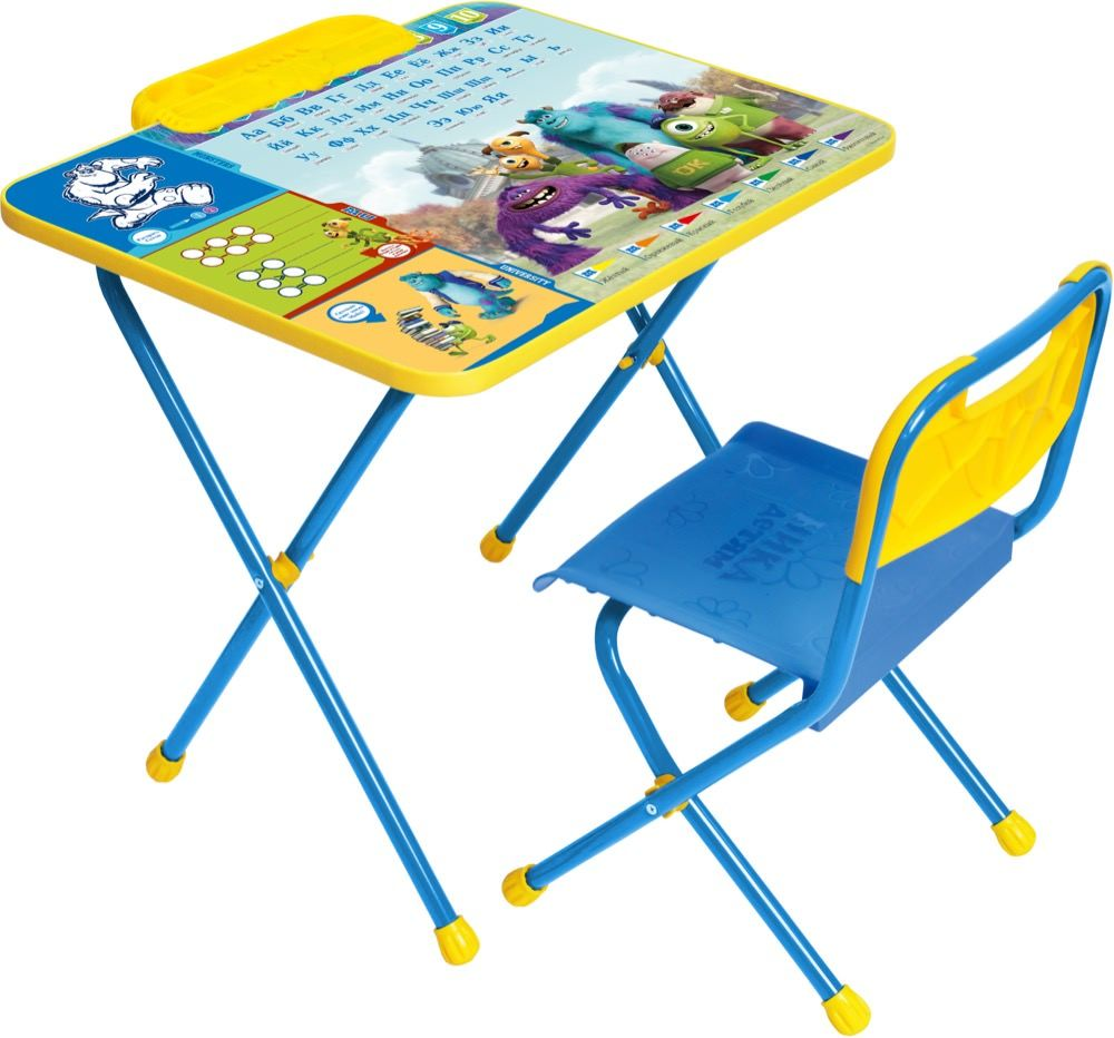 Набор детской мебели НИКА Комплект детский Disney1 Университет Монстров.Д1У, Д1У