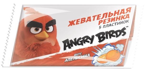 Жевательная резинка Конфитрейд ANGRY BIRDS MOVIE жевательная резинка конфитрейд trolls вкусношарик с начинкой 100 шт по 4 г
