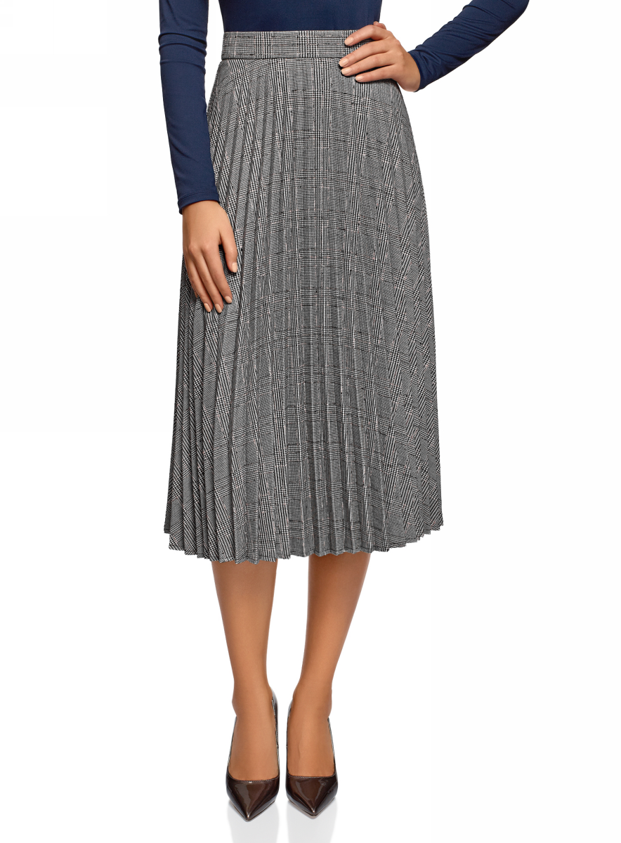 Фото - Юбка oodji юбка плиссированная длиной до колен