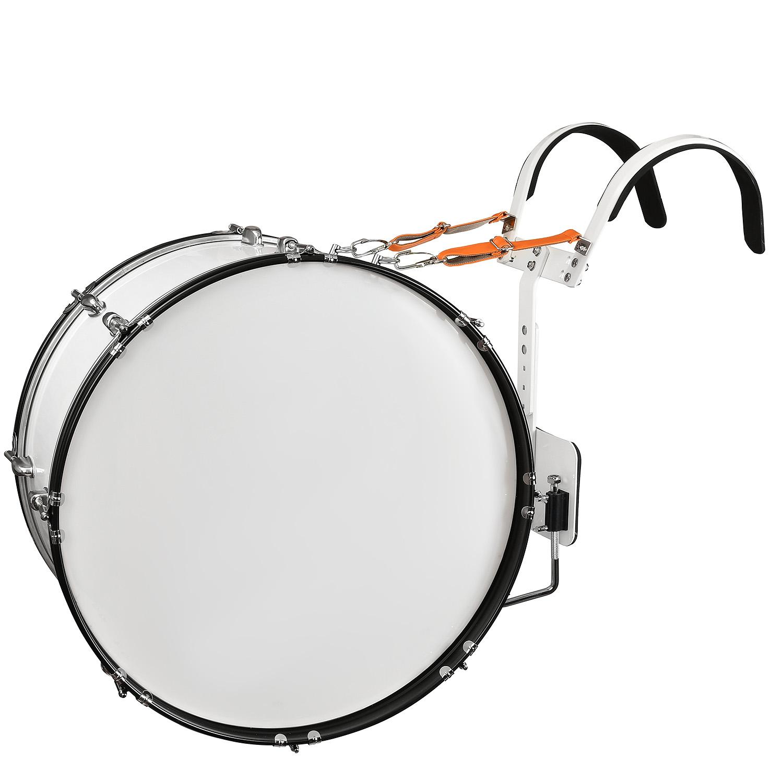 Маршевый БАС барабан с наплечными держателям Rolling Rock JR-2212WH цвет - БЕЛЫЙ цена и фото