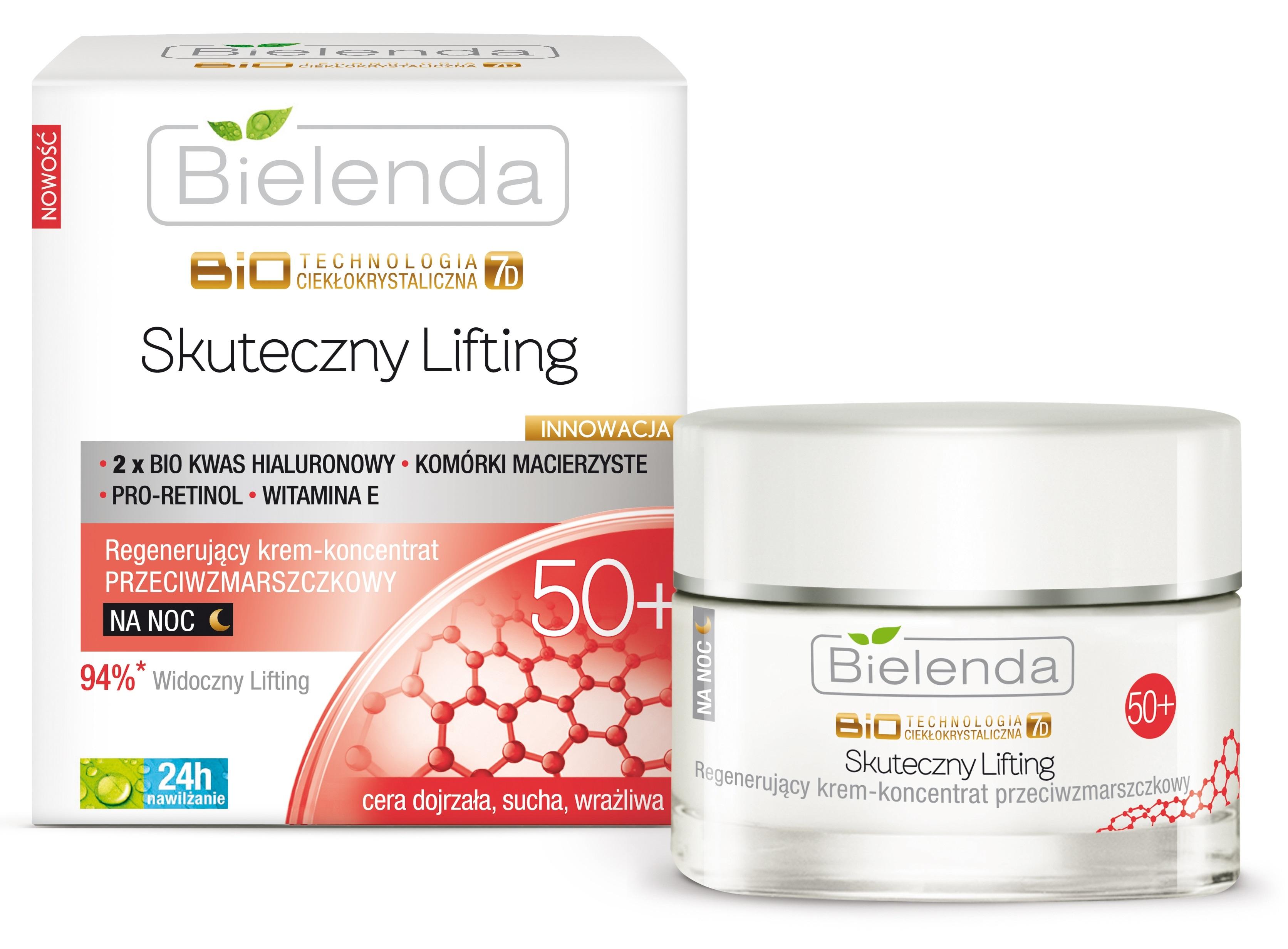 Биотехнология 7D, Восстанавливающий ночной крем 50+,  50 мл.  Bielenda