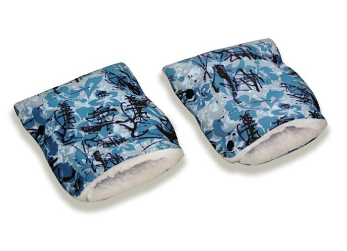 """Муфты-рукавички Чудо-чадо """"Икебана"""", МРМ13-000, серый синий черный"""