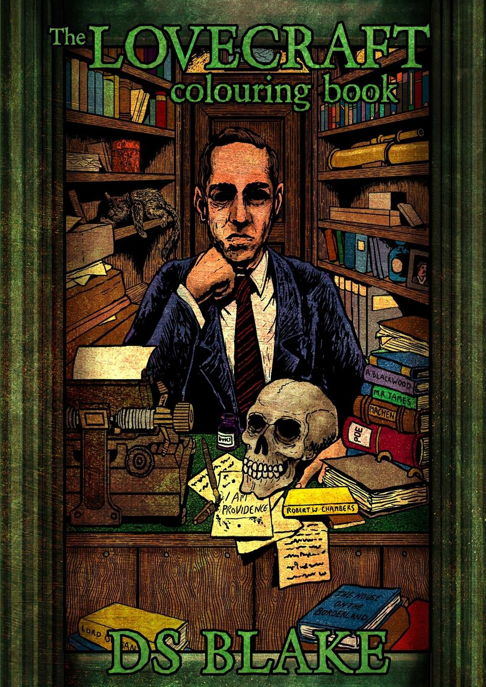 DS Blake The Lovecraft Colouring Book mummy and me sticker colouring book