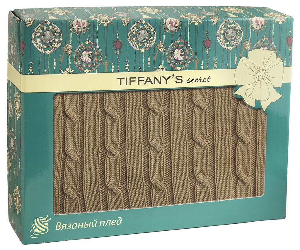 Плед 140*180 Tiffany's secret, трикотажной вязки, Косичка, Медовый Латте maigret s secret