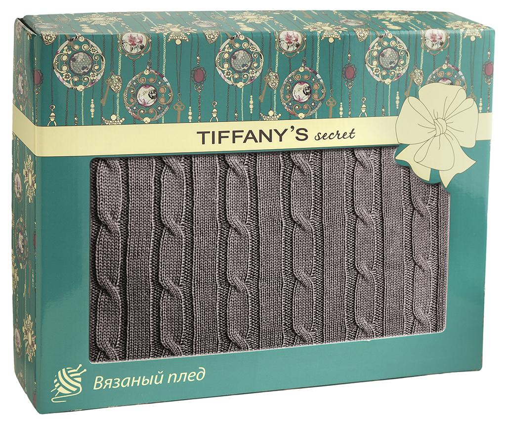 Плед 140*180 Tiffany's secret, трикотажной вязки, Косичка, Ристретто maigret s secret