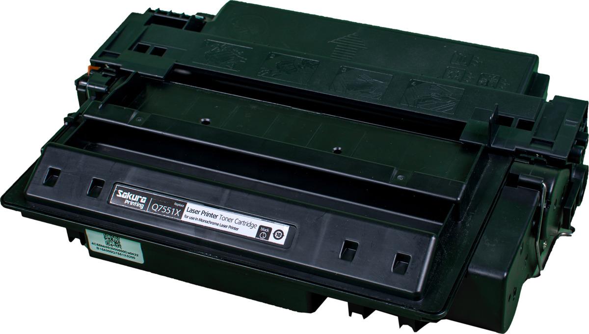 Картридж Sakura Q7551X для лазерного принтера HPP3005/P3005n/P3005d/P3005dn/3005x/M3027MFP/M3027xMFP/M3035MFP/M3035xsMFP, черный
