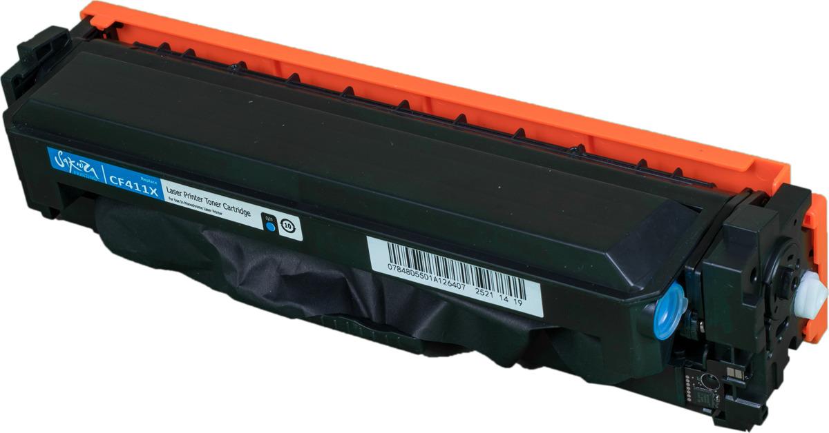 Картридж Sakura CF411X для HP LaserJet Pro M452nw, M452dn, M477fnw, M477fdw, M477fdn, M377dw, синий