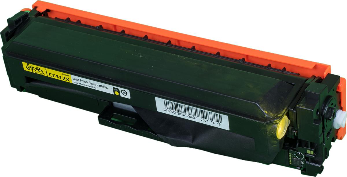 Картридж Sakura CF412X для HP LaserJet Pro M452nw, M452dn, M477fnw, M477fdw, M477fdn, M377dw, желтый