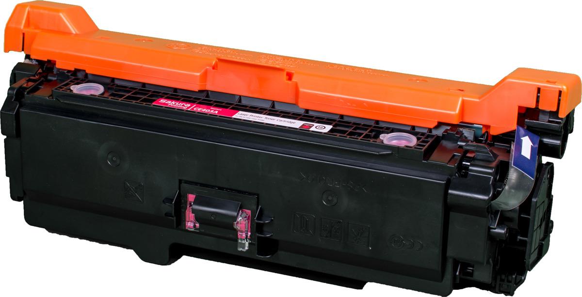 Картридж Sakura CE403A для HP Enterprise 500 Color M551n/525f/525dn/570/575f, пурпурный
