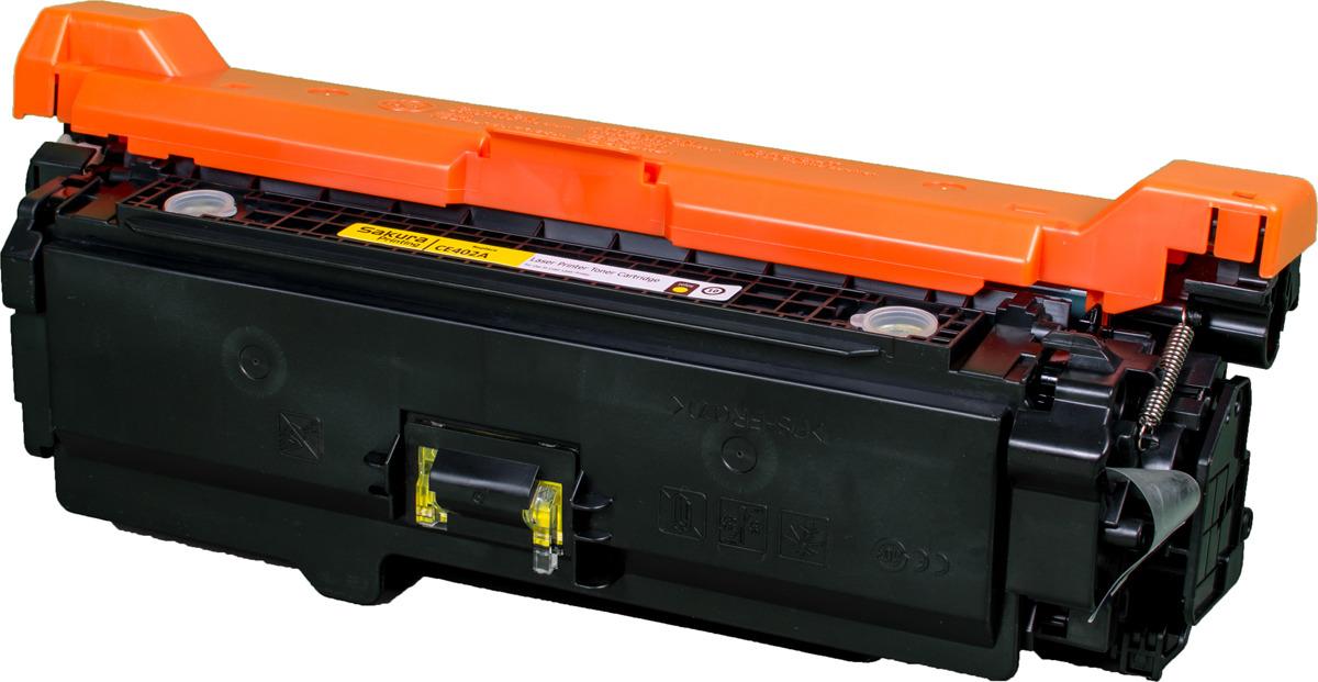 Картридж Sakura CE402A для HP Enterprise 500 Color M551n/525f/525dn/570/575f, желтый