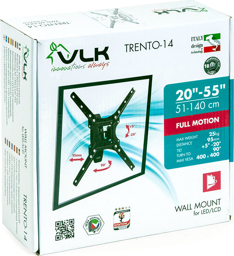 Кронштейн для ТВ  TRENTO-14 black VLK