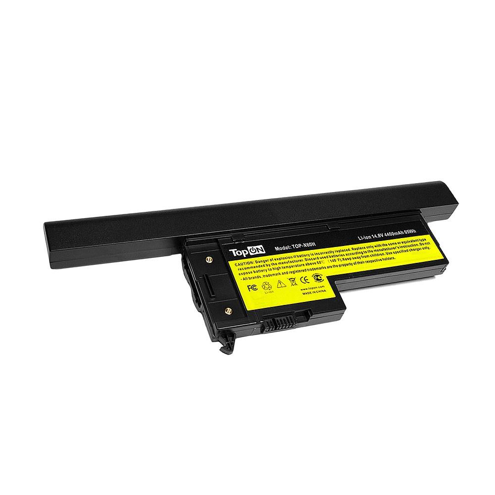 Аккумулятор для ноутбука TopON IBM Lenovo ThinkPad X60s, X61s.  14. 8V 4400mAh 65Wh, усиленный.  PN:  40Y6999, 40Y7001. , TOP-X60H TopON