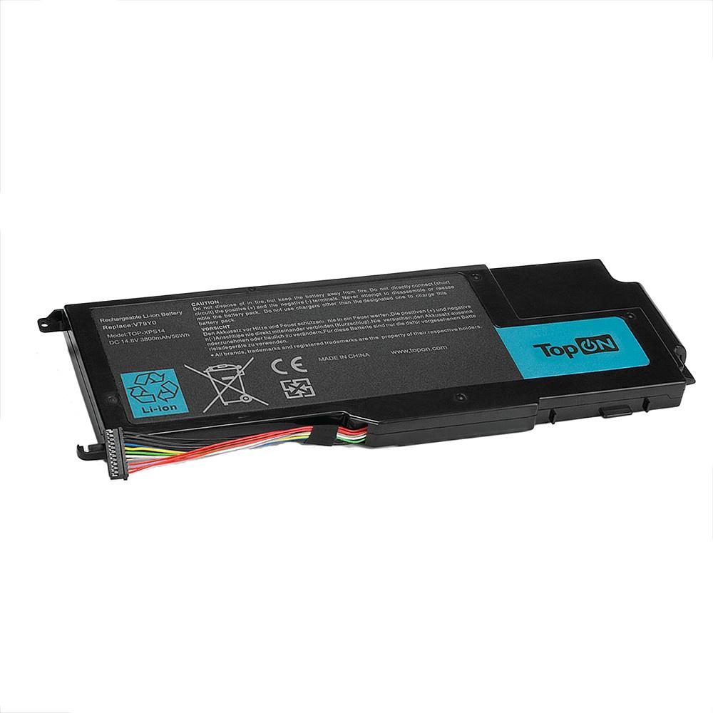 Аккумулятор для ноутбука TopON Dell XPS 14Z, 15Z, L412Z, L511X, L511Z. 14.8V 3800mAh 56Wh. PN: NMV5C, V79Y0., TOP-XPS14 14 8v 58wh new original laptop battery for dell xps l511z l511x l412z 14z 15z series v79yo v79y0