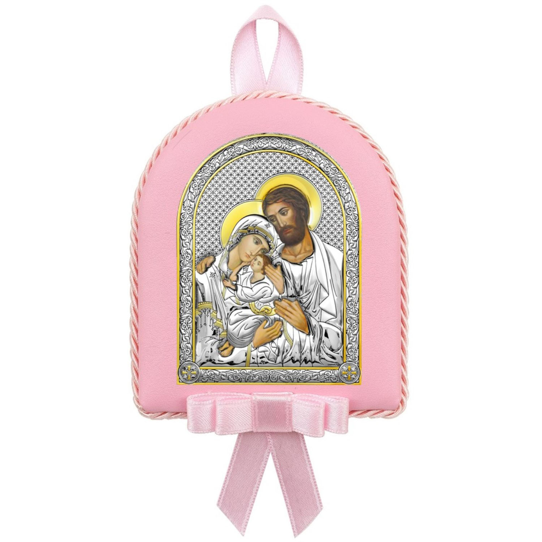 Икона АргентА Икона детская Св.Семейство роз. (7,5*9,5)   -, 6390 OR АргентА