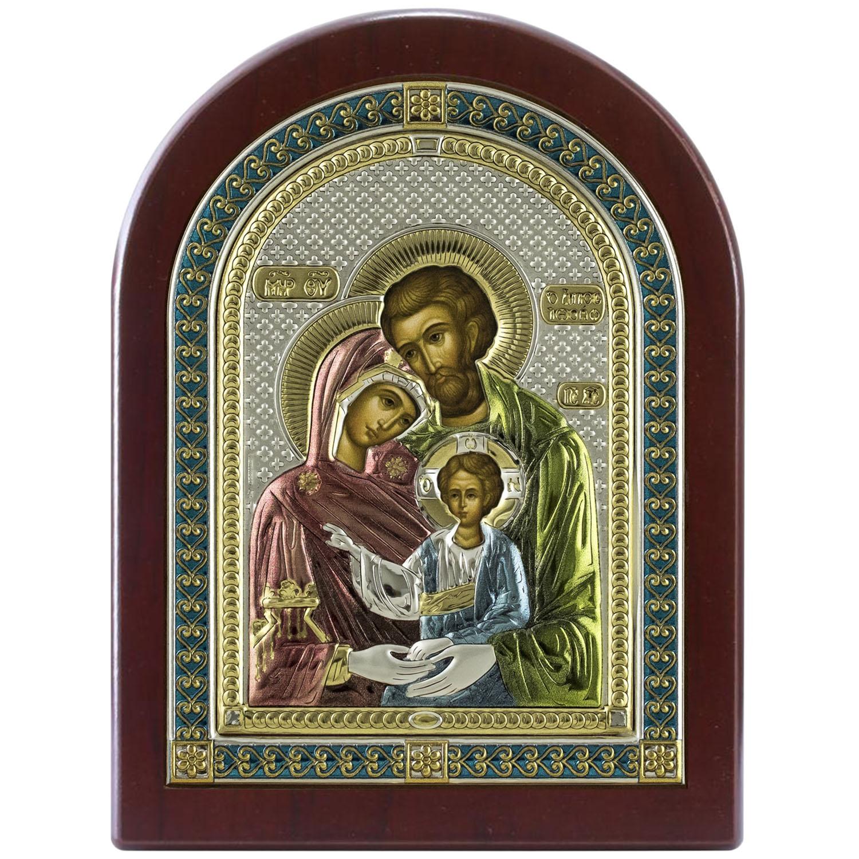 Икона АргентА Икона Святое семейство (21*26) -, 85141 5LCOL, серебристый иконы