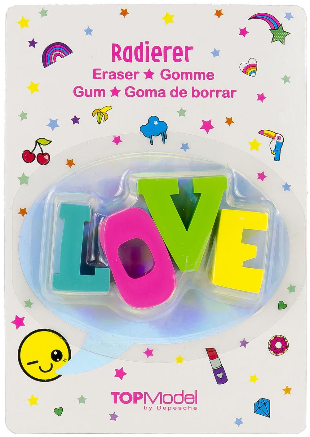 купить Ластик Depesche TOPModel Набор ластиков в форме слов LOVE (046646/006646) по цене 298 рублей