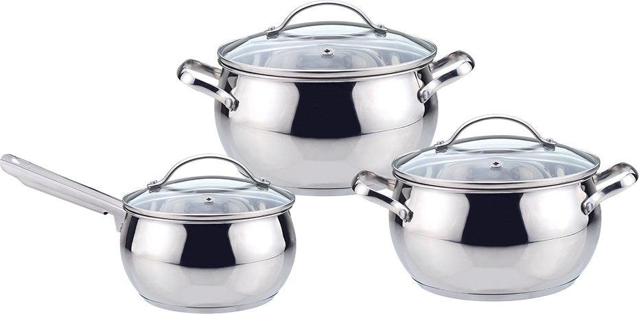 Набор посуды Maestro Jambo Apple, MR-3501-6L, серебристый, 6 предметов набор посуды maestro mr 2220 6l