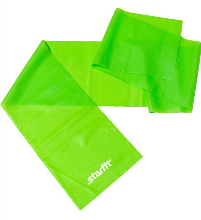 Эспандер STARFIT ленточный для йоги ES-201 1200*150*0.35 мм, зеленый