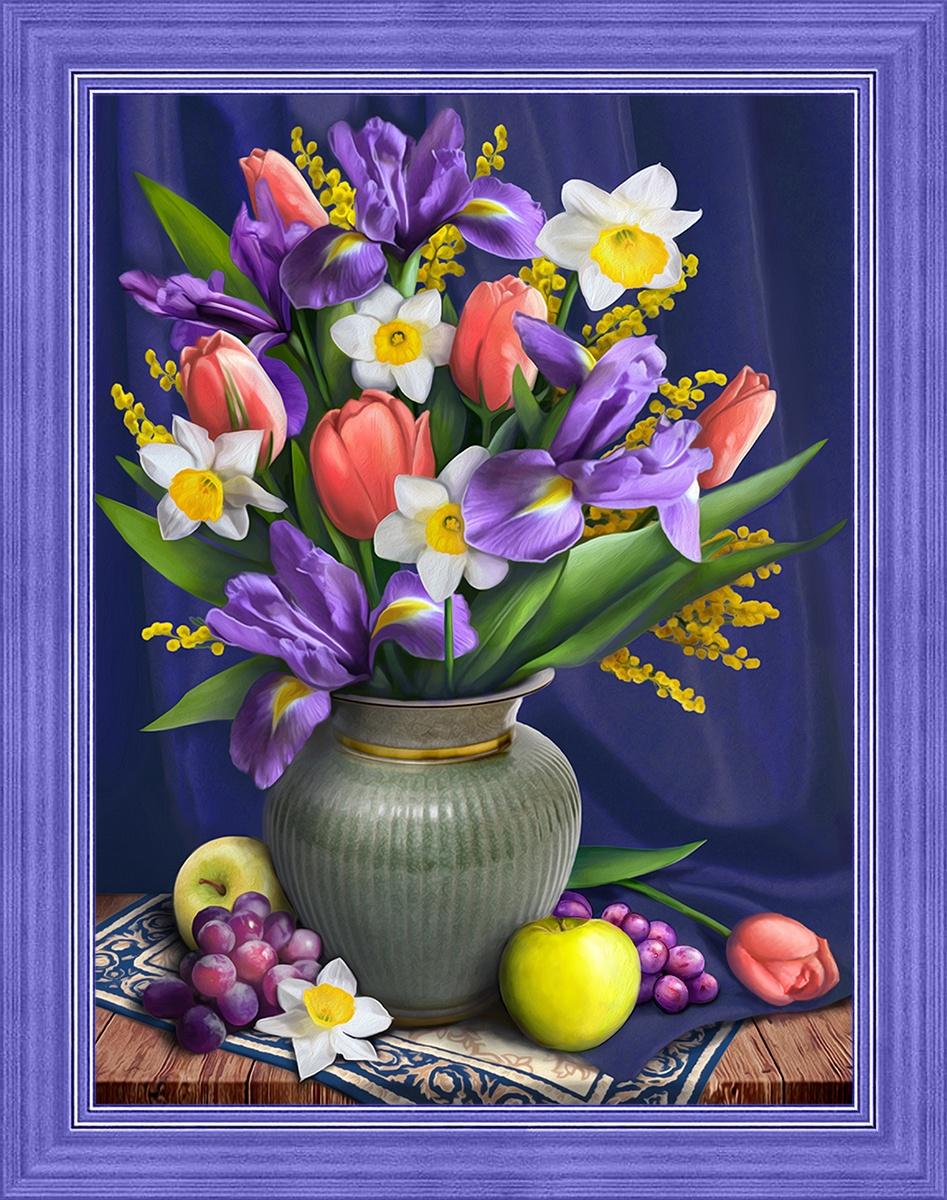 тюльпаны и нарциссы рисунки
