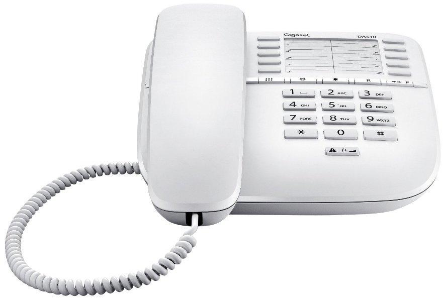 Телефон Gigaset DA 510 RUS проводной телефон, S30054-S6530-S302, белый