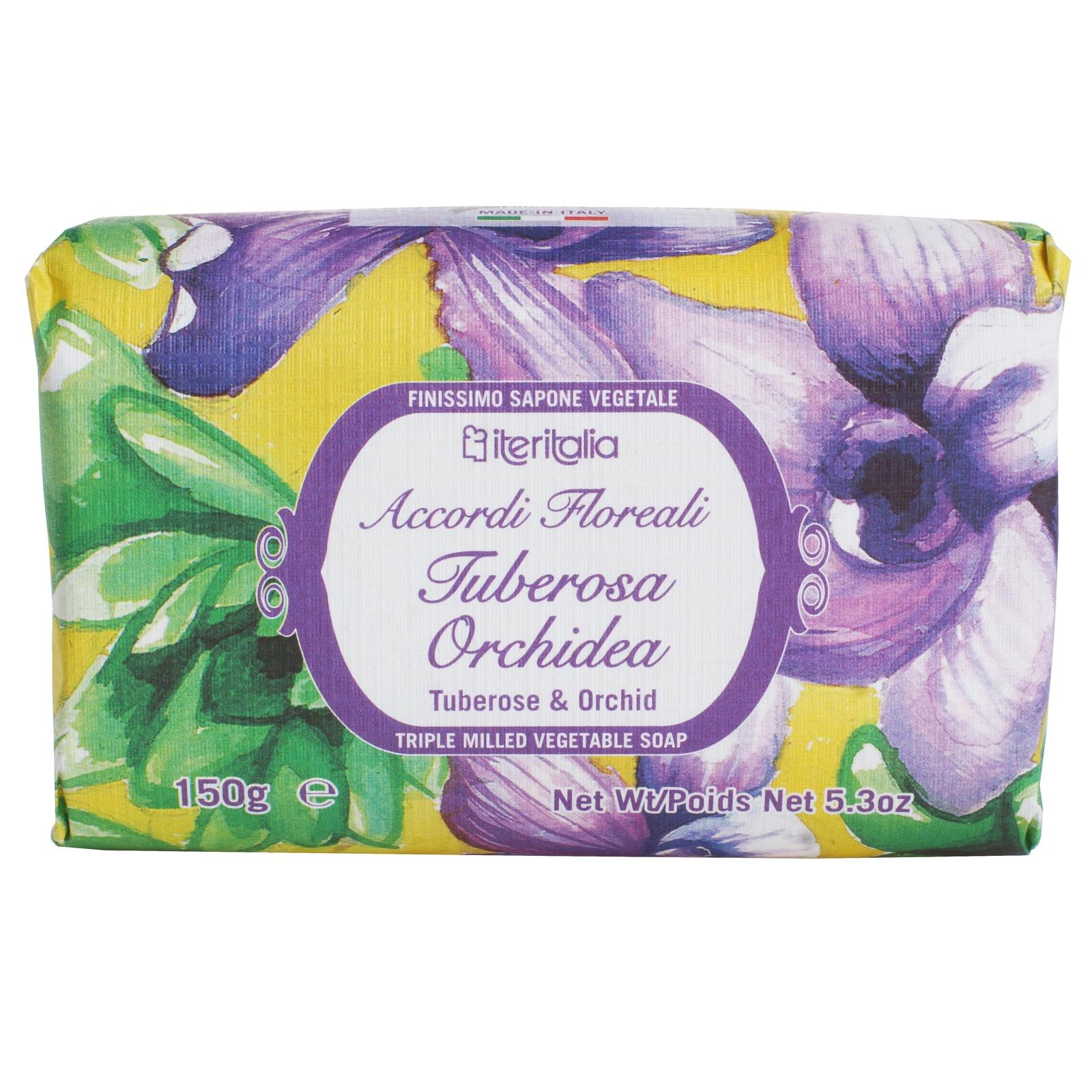 Мыло туалетное Iteritalia Косметическое натуральное iteritalia мыло высококачественное натуральное растительное с ароматом мандарин юдзу 125 г